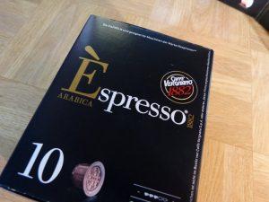 Die Verpackung der Kaffeekapseln